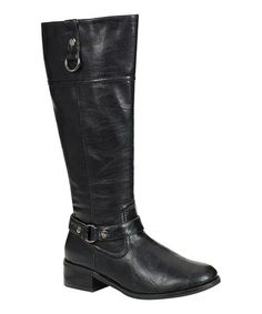 Take a look at this Black Honey Boot by Reneeze on #zulily today!