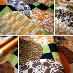 Japanese pattern fabric by karaku*, via Flickr