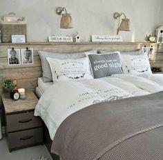 Cabeceira de cama madeira elementos rústicos