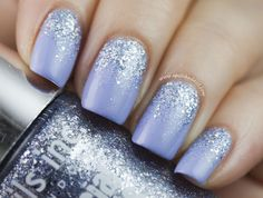 Beautiful lavender tone and reverse glitter gradient