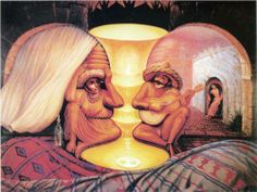 Forever Always - Octavio Ocampo An enchanting painting depicting the thoughts of an elderly couple, reminiscing the days of serenading each other.