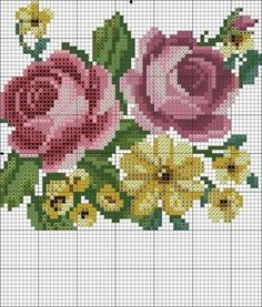 Embroidery Patterns Free, Beading Patterns, Cross Stitch Embroidery, Hand Embroidery, Cross Stitch Patterns, Cross Stitch Love, Cross Stitch Flowers, Bordado Floral, Beaded Flowers