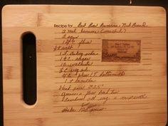 So cutting board for Amanda