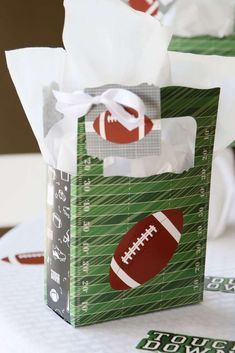 Check Out The Awesome Party Favor Bags At This Football Birthday See More