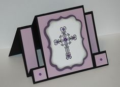 Ornate Cross Center Step Card by MomToLissa - Cards and Paper Crafts at Splitcoaststampers