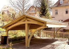 chunky cantilevered carport ! would make a neat gazebo too!