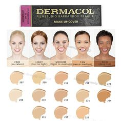 Dermacol Makeup Cover Waterproof Hypoallergenic Foundation Original Guaranteed from Authorized Stockists Buy 2 and GET Satin Makeup Base Free Find out more testimonials of the item by visiting the link on the image. (This is an affiliate link). Foundation Contouring, Foundation Tips, Makeup Foundation, Dermacol Foundation Swatches, Beauty Bar, Beauty Makeup, Beauty Skin, Dermacol Make Up Cover, Sensitive Skin Care