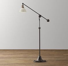 Industrial Era Task Floor Lamp - Cream