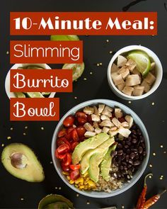 Burrito Bowl - Quicker Than a Drive-Through: 10-Minute Burrito Bowls - #ReImagineDieting Sign up for more weight loss recipes like this at fullplateliving.org