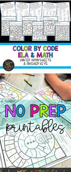 Your students will love these winter themed, NO PREP, color by code printables to practice a variety of ELA and math skills. The ELA standards addressed in this packet include R-controlled vowels, diphthongs, parts of speech, and suffixes. The math standards include counting coins to $1.00 and adding and subtracting with sums and differences to 20. Click the link below if you are seeking some new winter activities guaranteed to promote 100% student engagement in your classroom!
