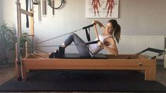 """107 Likes, 4 Comments - @aysenaktacpilates on Instagram: """"Arms abs obliques using the trapeze bar as a prop for rowing reformer da trapez bar ı…"""""""