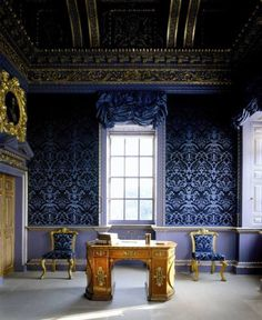 Chiswick House, Blue Velvet Room, 18th Century.