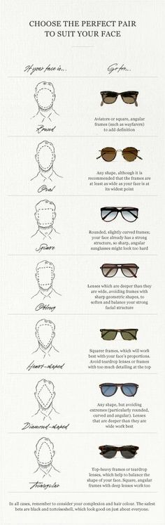Glasses for face shapes.
