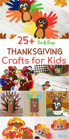 25+ Fun & Easy Thanksgiving Crafts for Kids