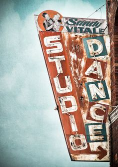 Sandy Vitale Dance Studio vintage sign