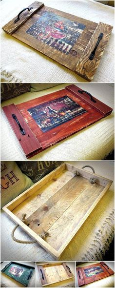 Those who are gifted creativity can impress others with everything they have in their home just like this reused wood pallet serving tray. Isn't this creation by Pallet Brighton is awesome? Every person can copy this unique and simple idea for impressing guests.
