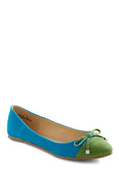 Lunch Breaking Convention Flat - Blue, Green, Color Block, Bows, Flat, Work