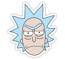 angry rick Sticker