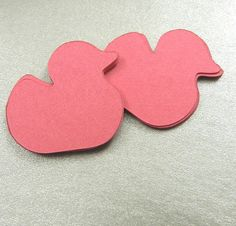 50 Pink Fuschia Rubber Duck Die Cuts by Purplecorner on Etsy, $1.55