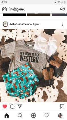 Kid Outfits, Cute Baby Girl Outfits, Cute Outfits For Kids, Newborn Outfits, Western Baby Girls, Western Baby Clothes, Baby Kids Clothes, Future Daughter, Future Baby