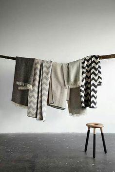 Zig zag blankets in neutrals | #saltstudionyc