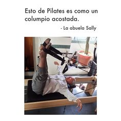 "@inspirahpilates's photo: ""Esto de #pilates es como un columpio acostada. -La abuela Sally   www.inspirahpilates.com  """