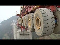 SLJ900/32 Bridge Girder Erection Monster Machine - YouTube Máquina monstruo para colocación de vigas para puentes....