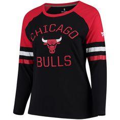 e4aac032b3ff Fanatics Branded Chicago Bulls Women's Black Plus Sizes Iconic Long Sleeve T -Shirt