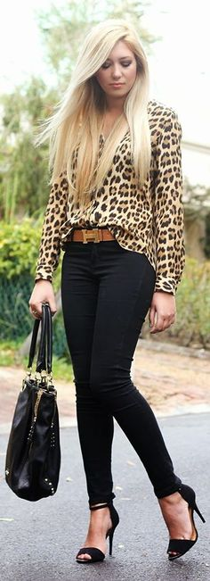 Zeliha's Blog: Black And Leopard Street Fashion Inspiration & Cut...
