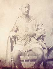 Indian Mutiny Rebel Mummoo Khan, Lucknow. He was jailed for life in Kanpur.