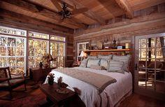 Rustic Log Bedroom