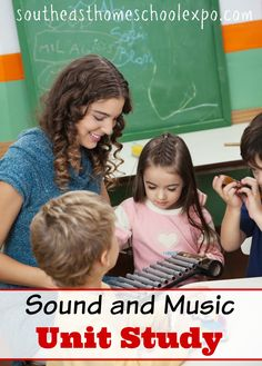 Unit studies are a great way to learn! Here is a sound and music unit study that your kids are sure to love! Homeschool Curriculum, Homeschooling Resources, Unit Studies, Music Lessons, Online Courses, Encouragement, Teacher, Study, The Unit