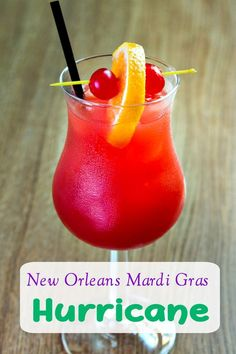 tropical drink Try this Mardi Gras Drink: New Orleans Hurricane Drink Recipe! It will transform transport you to the French Quarter! New Orleans Hurricane Drink Recipe! Liquor Drinks, Cocktail Drinks, Good Bar Drinks, Good Mixed Drinks, Drinks With Coconut Rum, Mixed Drinks With Vodka, Tropical Alcoholic Drinks, Tropical Mixed Drinks, Pineapple Rum Drinks