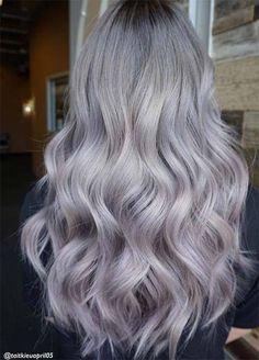 Granny Silver/ Grey Hair Color Ideas: Pearl Lilac & Silver Hair