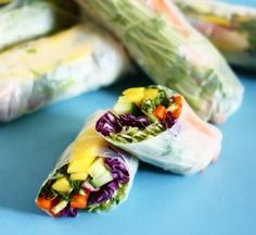 Summer Rolls (Vegan) with Thai Peanut sauce