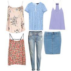 Pastel + jeans