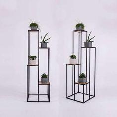 Bookshelf / Bookcase/ Flower stand TONA by SparkCraftWorkshop Jardiniere Design, Modern Decor, Modern Design, Simple Bedroom Design, Modern Plant Stand, Small Backyard Gardens, House Plants Decor, Flower Stands, Steel Furniture