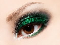 Beautiful eyeshadow in shimmer green