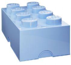 Lego Klods til opbevaring Lyseblå - Lego Opbevaring med 8 knopper Shop - Eurotoys - Legetøj online