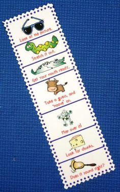 Cute bookmark for independent reading in primary grades.