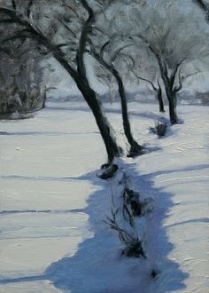 Belle Isle Shadows, painting by artist Stephen magsig