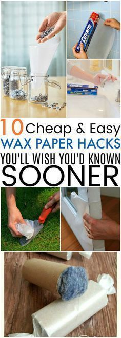 Genius Wax Paper Life Hacks for Your Household Needs These 10 Quick Wax Paper Hacks Are So COOL! I never knew how practical having a bunch of wax paper handy could be.Cool cool or COOL may refer to: Mason Jar Crafts, Mason Jar Diy, Cleaning Solutions, Cleaning Hacks, Cleaning Products, Konmari, Budget Crafts, Diy Wedding Backdrop, Simple Life Hacks