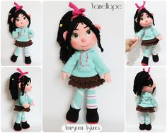 Sake-Knitting Amigurumi Toys: Games Impairments A-Wreck-it Ralph Ralph Vanellop from Movie