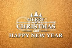 Qdiz Stock Images Merry Christmas and New Year greeting card,  #background #card #celebration #Christmas #eve #frozen #gold #greeting #holiday #Merry #new #postcard #retro #season #traditional #vintage #winter #xmas #year #yellow