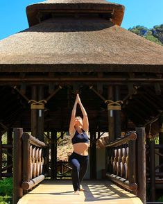 Getting our yoga on today at Shanti-Som Wellbeing Retreat in Marbella!  #yoga #exercise #wednesday #thatchedroof #thatching #deck #decking #resort #shantisom #retreat #detox #fitness #meditation #yogalife #yogainspiration #love #namaste #thirdeye #capereed #exclusiveliving #naturally #marbella #spain Pool Bar, Thatched Roof, Yoga Inspiration, Gazebo, Meditation, Relax, Wellness, Outdoor Structures, Chakra Meditation