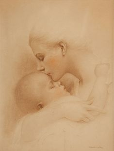 Charles Gates Sheldon (1889 - 1960) Mother and Child