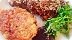 Zámocký rezeň so zemiakovými plackami a rukolou Meatloaf, Food, Filet Mignon, Essen, Meals, Yemek, Eten