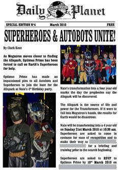 "Photo 1 of 67: Superheroes and Transformers / Birthday ""Superheroes and Autobots Unite"" 