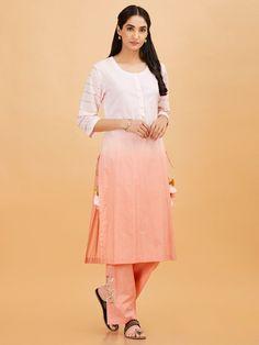 Simple Kurtis, Indian Ethnic Wear, Dye T Shirt, Cold Shoulder Dress, High Neck Dress, Clothes For Women, Designer Kurtis, Woman Clothing, Cotton