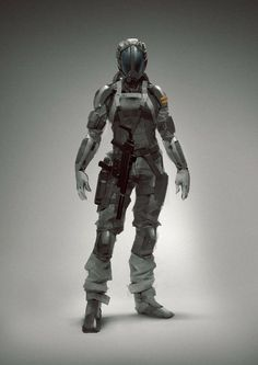 Cyborg by Eric Persson. Character Concept, Character Art, Character Design, Character Inspiration, Inspiration Boards, Cyberpunk, Armor Concept, Concept Art, Arte Sci Fi
